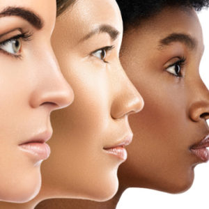 cosmetic treatment for darker skin tones